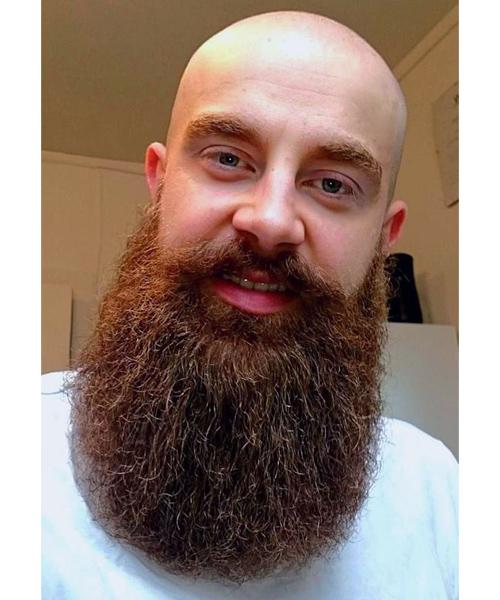 42 Calvo Con Barba Larga Cortes Cabello Para Hombres