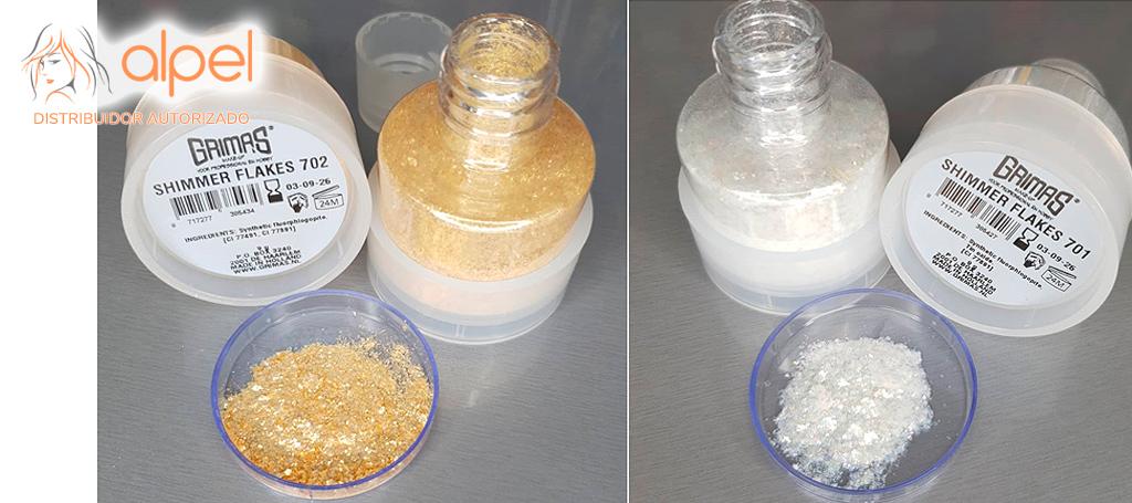 Grimas Shimmer Flakes: Purpurina ecológica