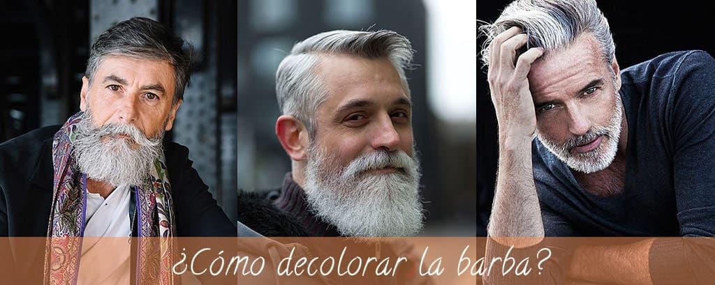 ¿Cómo decolorar la barba?