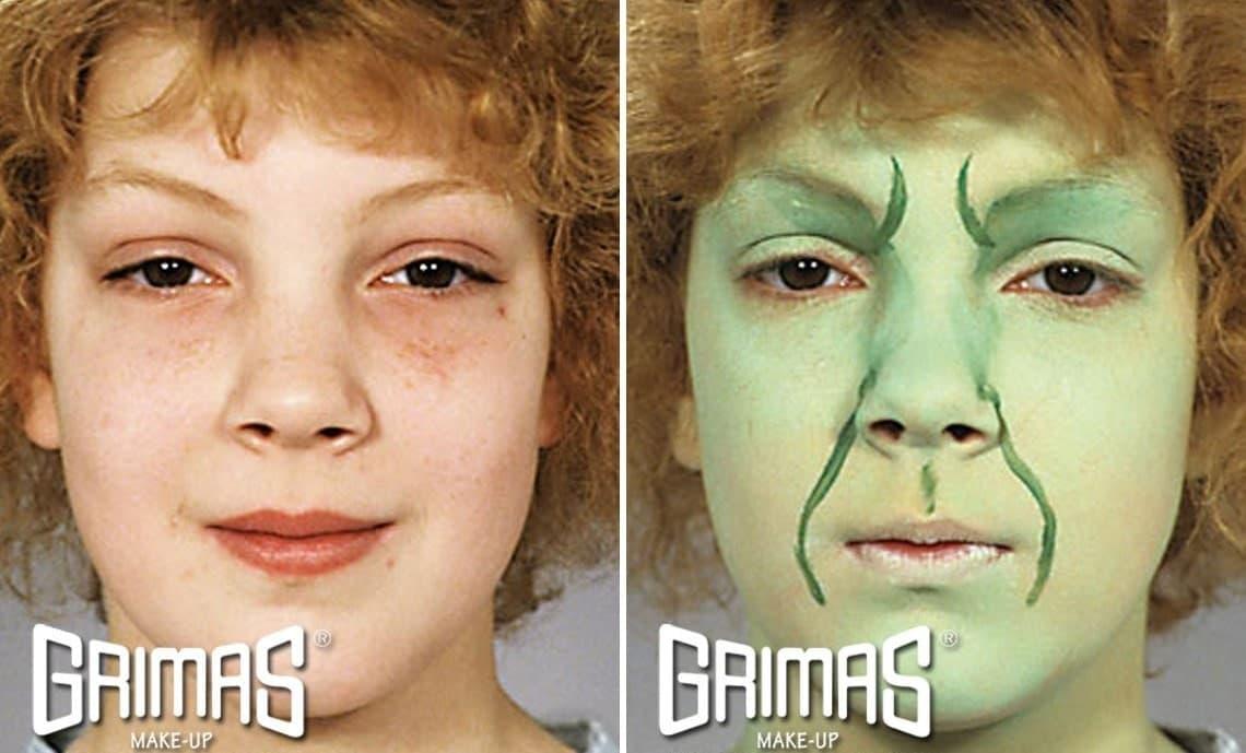 maquillaje de bruja sencillo paso 1 - Maquillaje Bruja