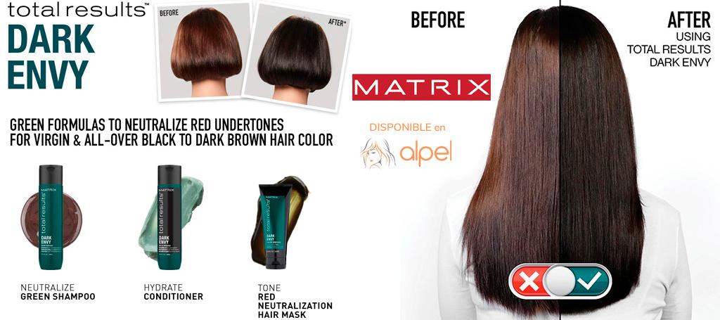MATRIX Dark Envy: Neutraliza los rojos en cabellos oscuros