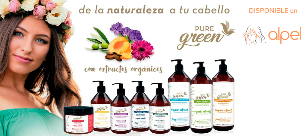 PURE GREEN - Productos para el cuidado del cabello con extractos orgánicos