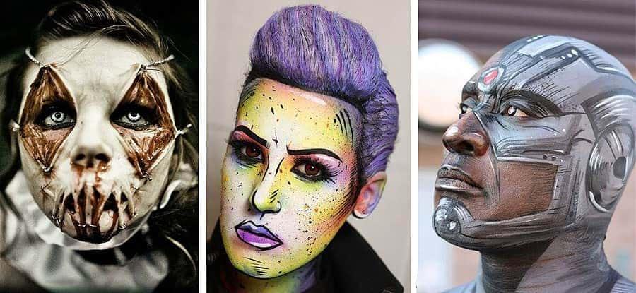 Ejemplos de Maquillajes de Efectos Especiales y Caracterización