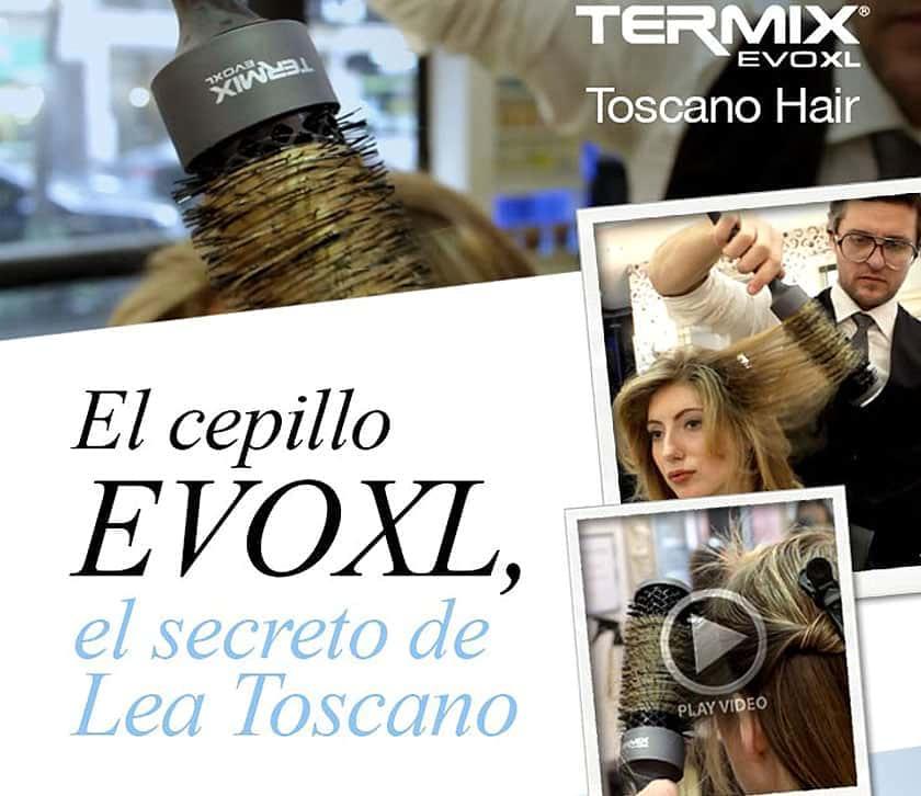 El estilista Leo Toscano utiliza cepillos termix EVO XL
