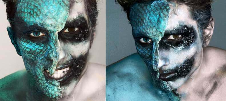 Tutorial Fx Caracterización: Maquillaje Serpiente Snakedemon - Gotymakeup3
