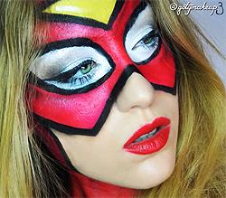 Tutorial Fx Caracterización: Maquillaje Spiderwoman Makeup - Gotymakeup3