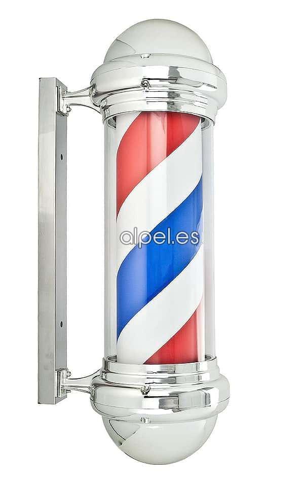 Poste Polo de Barbero Cromado - La tienda de peluquería Alpel