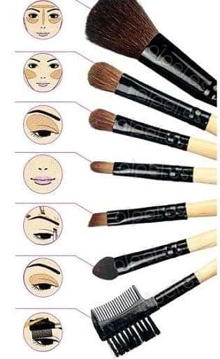 Ejemplo para utilizar las brochas de maquillaje