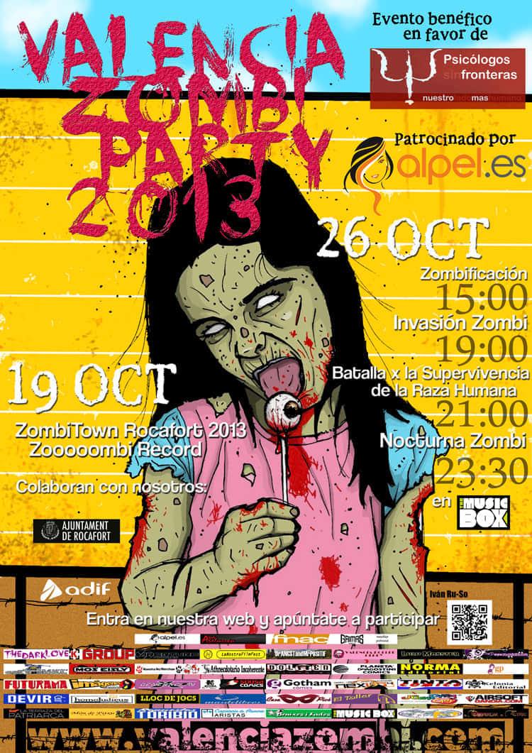 Valencia Zombi Party 2013: Terror Y Sangre Con Fines Solidarios