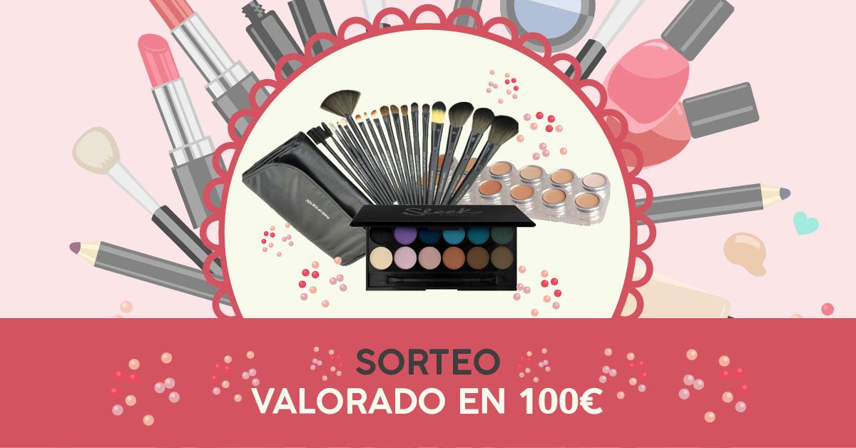 Sorteo Kit Maquillaje: Paleta Maquillaje En Crema & Paleta Sombras & Pinceles Maquillaje