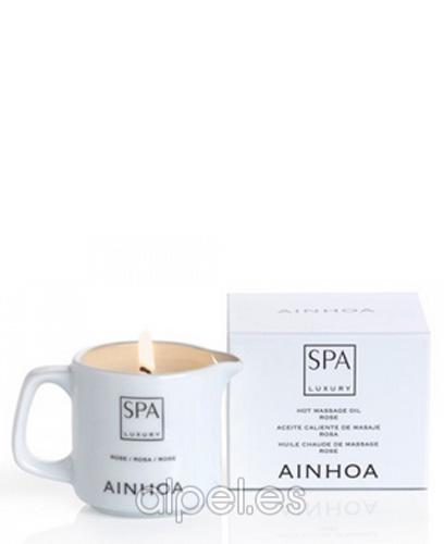 Comprar Ainhoa Spa Luxury Vela Masaje Rosa 80 gr online en la tienda Alpel