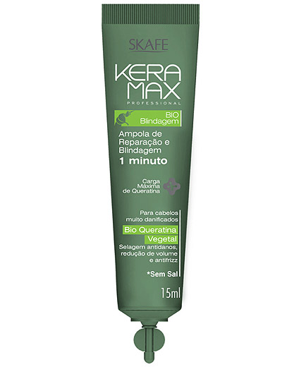 Ampolla de Bio Keratina Vegetal Bio Blindaje Keramax Hidratación - Comprar online en Alpel