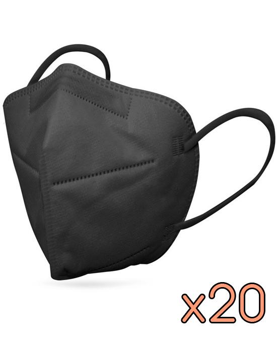 Mascarilla FFP2 Negra Caja 20 unid - Comprar online Disponible en Stock desde España