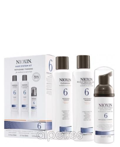 Comprar Nioxin Kit Sistema 6 Cabello Natural Coloreado Medio grueso online en la tienda Alpel