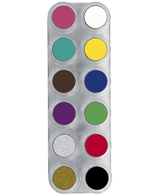 Comprar Paleta Maquillaje 12 Maquillajes Al Agua Grimas 12 A online en la tienda Alpel