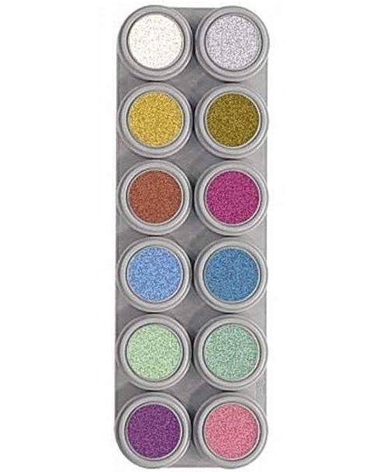 Comprar Paleta Maquillaje 12 Maquillajes Al Agua Grimas 12 P Perlados online en la tienda Alpel