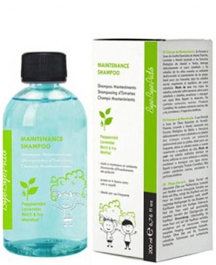 Repelente de Piojos Menta Piperita Lavanda Mentol Champú ByeByePido Maintenance Shampoo 200 ml