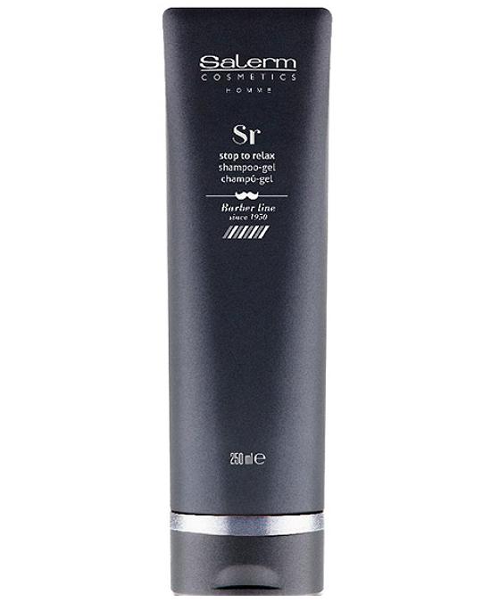 Comprar Salerm Homme Stop Stress Shampoing-Gel Champú Gel 250 ml online en la tienda Alpel
