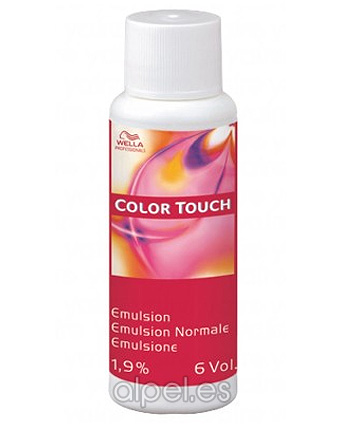 Comprar Wella Color Touch Emulsion 6 Vol 1.9% Ox 60 ml online en la tienda Alpel