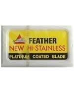 Comprar Hoja / Cuchilla Afeitar Feather New Hi-Stainless Platinum Coated Blade online en la tienda Alpel